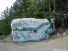 Painted Boulder Entering Baxter State Park by veteran in Views in Maine