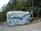 Painted Boulder Entering Baxter State Park