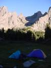 Tents In Cirque Of The Towers by UnkaJesse in Continental Divide Trail
