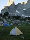 Tents In The Cirque Of The Towers