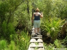 My wife on a bridge over the only water on this section of the FNST by Amigi'sLastStand in Other Trails