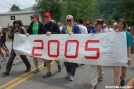The parade commences by Pack Mule in 2006 Trail Days