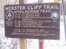 Sign near Crawford Notch in White Mountains of New Hampshire