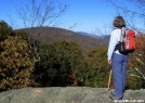 Carlene looks North from High Rocks North Carolina by Rusty41 in Trail & Blazes in North Carolina & Tennessee