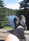 Relaxing on the deck of Skyline Lodge by celt in Long Trail