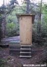 Cooley Glen Shelter Privy on the Long Trail by celt in Vermont Shelters
