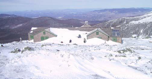 Lakes Of The Clouds Hut in Winter