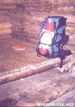 Rainbow Stream Shelter's baseball bat floor