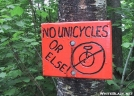 No Unicyles by celt in Sign Gallery