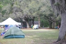Tent Blowing Around At Florida Hiking Festival