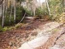Brook on bare rock above Mahoosuc notch