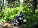 Glacier Waterton Hike - Break Time by Egads in Continental Divide Trail