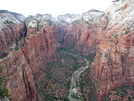 View from Angels Landing at Zion