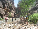 Starting the Narrows hike at Zion by Egads in Other Trails