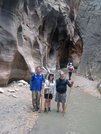Chris, Ashley, & Egads at Orderville Canyon in Zion