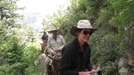 Mule riders on North Rim trail of Grand Canyon by Egads in Other Trails