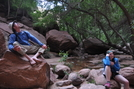Relaxing at Emerald Pools in Zion by Egads in Other Trails